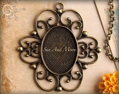 Vintage Setting  10 Pack  22x30mm  Antiqued by SunAndMoonCraftKits, $10.00