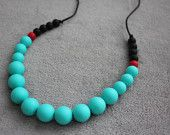 Silicone necklace / chew beads / nursing / teething / bead necklace / baby shower gift / mommy necklace / teether