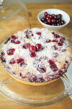 Cherry, Almond and Amaretto Tart Recipe - Globe Scoffers | globescoffers.com