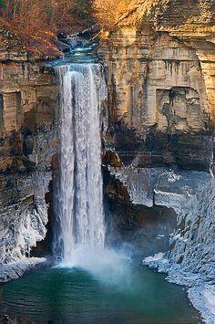 Taughannock Falls in Ulysses, New York, USA