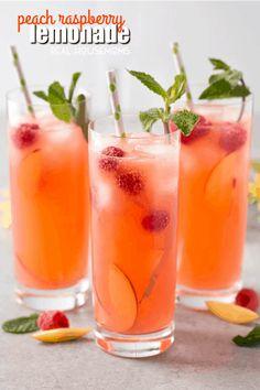20 Refreshing Lemonade Drinks For Summer - Drinks Peach Drinks, Refreshing Cocktails, Summer Drinks, Fun Drinks, Healthy Drinks, Healthy Recipes, Summer Food, Cold Drinks, Drink Recipes