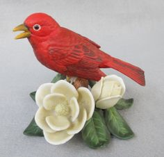 1990's Lenox Summer Tanager - available from Antique Beak.  http://www.rubylane.com/item/49724-ab7421/1990s-Lenox78-Summer-Tanager