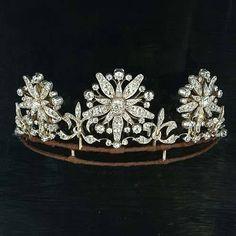 Diamond Tiara, circa 1890, with 12.30 carats of diamonds