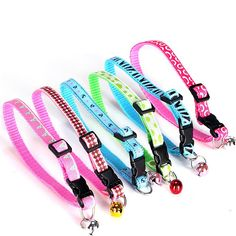Winwin,Adjustable New Polyester Collar with Bell Cute Bow for Small XS Dogs and Cats,Random Color No Fade,Teddy,Pomeranian Collors Handmade Printed Colorful >>> Remarkable product available now. : Cat Collar, Harness and Leash