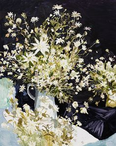 © Laura Jones ~ Flannel flowers ~ 2016 Oil on linen at Olsen Irwin Gallery Sydney Australia