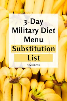 military diet menu substitution list for anyone looking for other foods to do the miltiary diet to lose 10 pounds in a week. Best Diet Foods, Best Diets, Best Diet Plan, Healthy Diet Plans, Healthy Weight, Diet Plans To Lose Weight Fast, Weight Loss Diet Plan, Losing Weight, Cumple Sheriff Callie