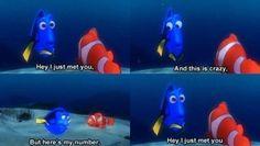 Finding Nemo funny. :3