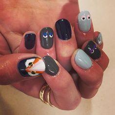 お客様ネイル持ち込みデザインでFENDIのモンスター有難うございました!こちらのデザインは¥11880で出来ます!  #poolnail#pool原宿#pool#shukosatoh#佐藤周子#FENDI#monster#fashion