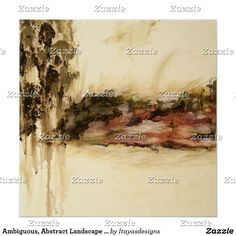 Ambiguous, Abstract Landscape Art Drips Painting Poster  SOLD!!