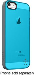 6499585 - Belkin- Grip Candy Sheer Case for Apple IPhone 5 - Teal/Silver
