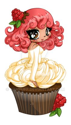 Raspberry Ganache Girl - Commission by YamPuff on DeviantArt