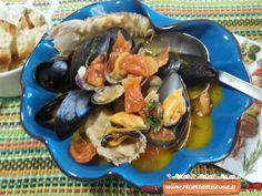 Zuppa ai frutti di mare   Una zuppa gustosa con vongole, cozze e pannocchie o ciale di mare, un successo assicurato!
