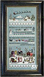 Santa's Village Cross Stitch Sampler