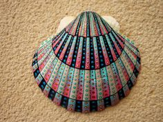 Shell 38 Portuguese sunset unique handpainted ocean by Jabashop