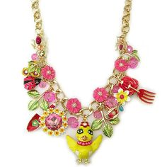 Betsey Johnson Garden Party Chickadee Flower Frontal Necklace Betsey Johnson, http://www.amazon.com/dp/B00BO0B0PO/ref=cm_sw_r_pi_dp_Rjzvrb13PB4QF