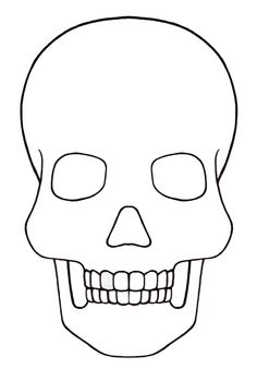 Sugar Skull Template Printable Awesome Skull Template Mini Day Of the Dead Mexico Day Of Dead, Day Of The Dead Mask, Day Of The Dead Skull, Skull Template, Mask Template, Huichol Art, Handout, Skull Coloring Pages, Skull Stencil
