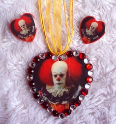 Pennywise Necklace and Earrings Set Stephen by MirroredOpposites