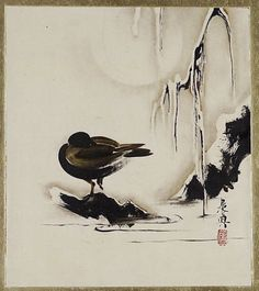 Shibata Zeshin. Waterbird. Japanese painting. Nineteenth century. The Metropolitan Museum of Art.