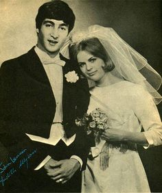 John & Cynthia Lennon first wedding 1962.....someone posted this but the bride is someone else thanks Janice for pointing out that John and Cynthia did not have a formal wedding. Someone doctored this pic and posted it.