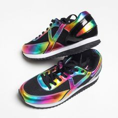 Rainbow Flash Sneakers #Flash, #Rainbow, #Sneakers