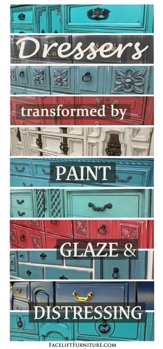 How Paint, Glaze & Distressing Open New Doors For Dressers - DIY Furniture Couch Ideen Laminate Furniture, Old Furniture, Refurbished Furniture, Paint Furniture, Repurposed Furniture, Furniture Projects, Furniture Makeover, Vintage Furniture, Furniture Plans