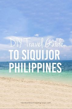 DIY Travel Guide to Siquijor, Philippines The first time I was in Siquijor, it was just an overnight trip and I swore that I will go back. When my friend asked me to go with her someplace where she can do 'alone time', I quickly suggested Siquijor and to spend at least 2 nights (but honestly, 2 nights are still not enough) to fully enjoy the place.