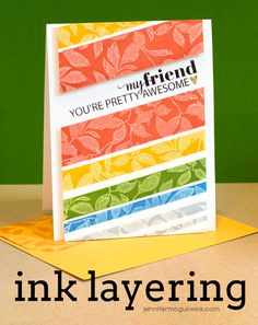 Ink Layering Video by Jennifer McGuire Ink