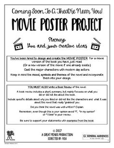 Novel Projects for ANY Novel - Creative and Unique Workshe Reading Workshop, Reading Skills, Teaching Reading, Guided Reading, Learning, 5th Grade Reading, Middle School Reading, Homeschool High School, Homeschooling