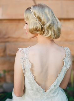 Heirloom Wedding Ideas-love the lace on the back of this gown