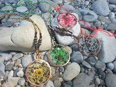 """Makrame Halskette """"Traumfänger"""" von Mundo Makramee auf DaWanda.com"""