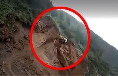 Video: Captan dramática caída de una retroexcavadora en la región de Aysén | Patagonia