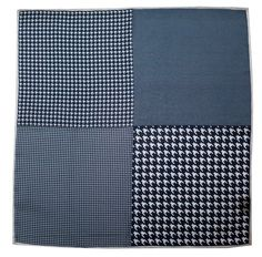 HOUNDSTOOTH PANEL  - NAVY
