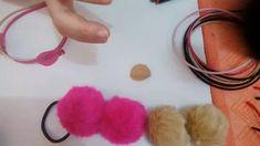Como fazer tiara orelhas de pompons, tiara orelhas de urso