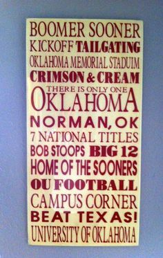 Oklahoma Football!