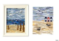 Driftwood Original Fabric Collage and Beach Huts Fabric Collage Print by Eliston Button - Christmas Gift Guide, Last Postage Dates and a Present for You! at www.elistonbutton.com - Eliston Button - That Crafty Kid – Art, Design, Craft & Adventure.
