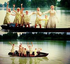 Hahahaha I looked at their faces in the first picture and the way Friedrich fell off the boat and couldn't stop laughing.