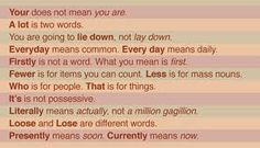"""""""Your"""" does not mean """"you are"""" and other tips."""