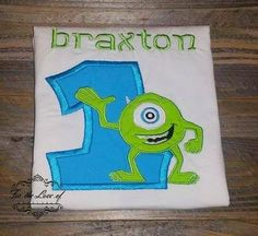 Monsters! Customize the perfect birthday shirt for your little monster on his (or her) big day.