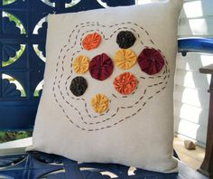 Fall or Autumn Decorative Accent Pillow // 16 x by QuirkyQuiltress