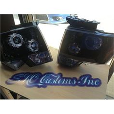 2009-2014 Ford F-150 Projection Headlights - Black