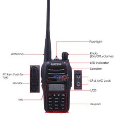 BAOFENG UV-B6 136-174/400-480Mhz MENU 27 with FM radio 409shop walkie talkie…