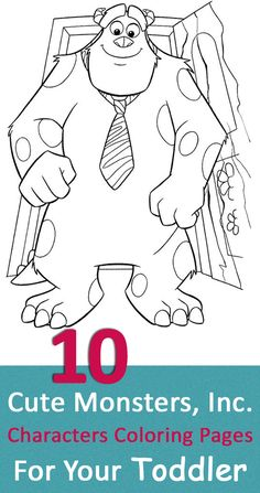 Top 20 Cute Monsters Inc Characters Coloring Pages For Your Toddler