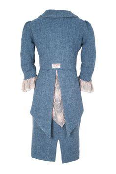 Elaine Mackenzie - Harris Tweed - Dress called 'Blue Romantic'