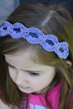 Crocheting Over A Hair Band : from etsy ready to ship crochet headband lace headband crochet ...