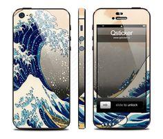 Виниловая наклейка для iPhone 5 Шторм купить в интернет-магазине BeautyApple.ru.