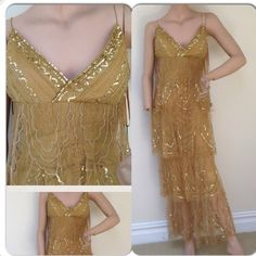 🆑 50% OFF🔴New long gold sequin dress Don't go to the party without this dress marsoni Dresses