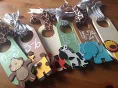 Hand Painted Closet Dividers {For Sweet Baby's Nursery} READY TO SHIP! on Etsy, $40.00