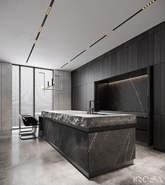 New luxury is a modern individuality, progressive design and functionality. Luxury Kitchen Design, Kitchen Room Design, Home Decor Kitchen, Interior Design Kitchen, Black Kitchens, Luxury Kitchens, Küchen Design, House Design, Cuisines Design