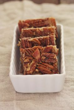 Maple Bacon Pecan Bars from Sophistimom. Wow is she terrific!