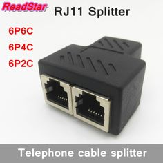 [ReadStar]1PCS PCB connection telephone cable RJ11 splitter Gold plating 1 to 2 adapter 6P6C 6P4C 6P2C female to female  #Affiliate